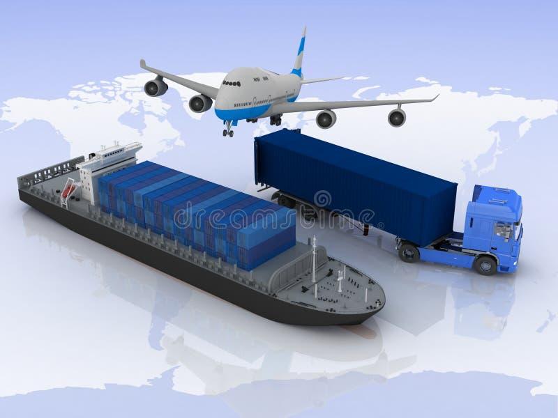 Tipos de transporte libre illustration