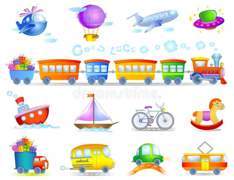 Tipos de transporte ilustração royalty free