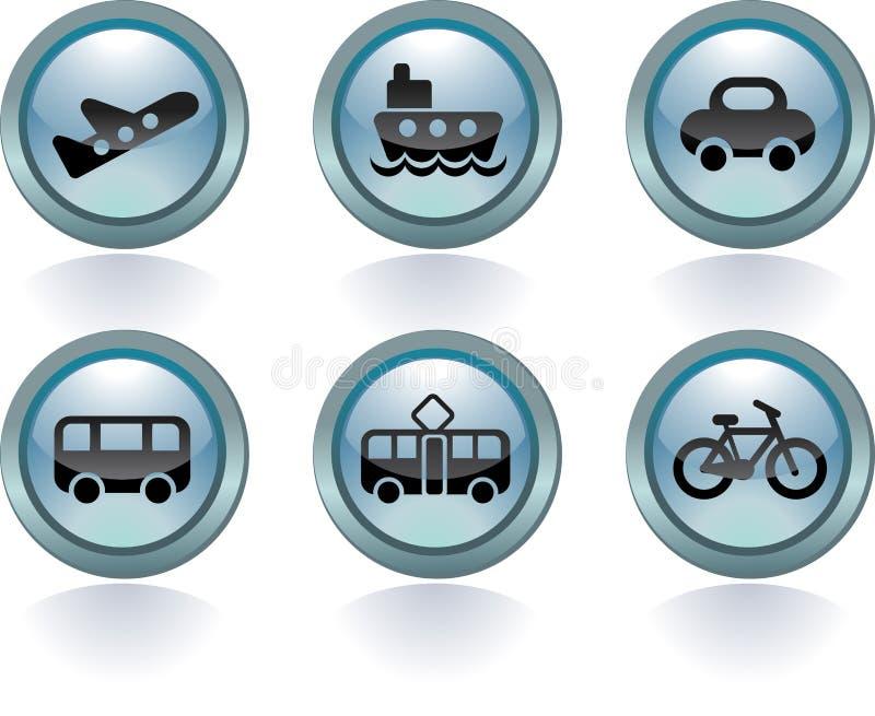 Tipos de transporte ilustração stock