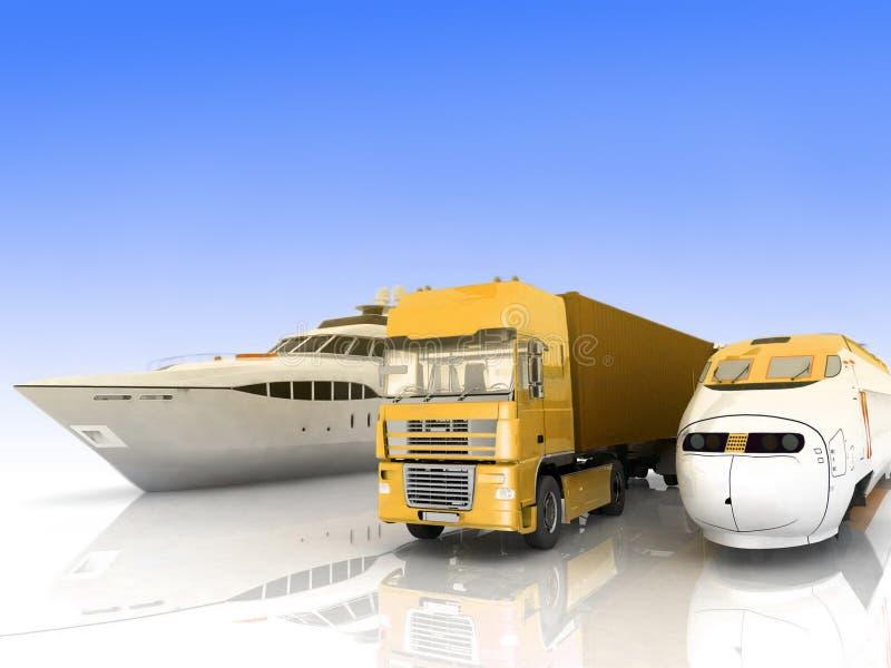 Tipos de transporte ilustración del vector