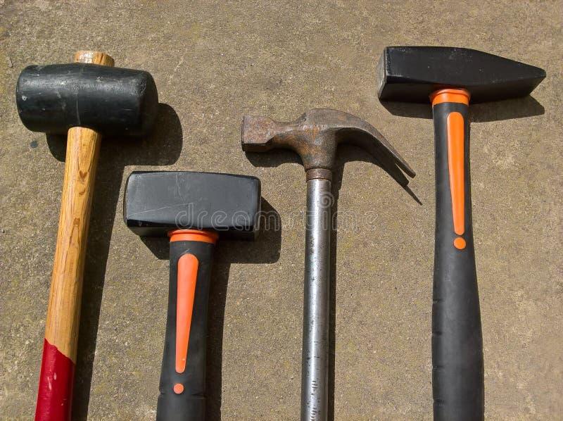 Tipos del martillo cuatro foto de archivo libre de regalías