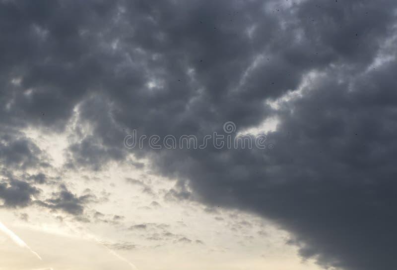 Tipos diferentes e fenômenos naturais das nuvens foto de stock royalty free