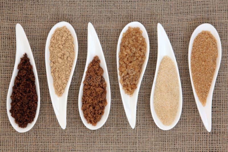 Tipos do açúcar fotos de stock