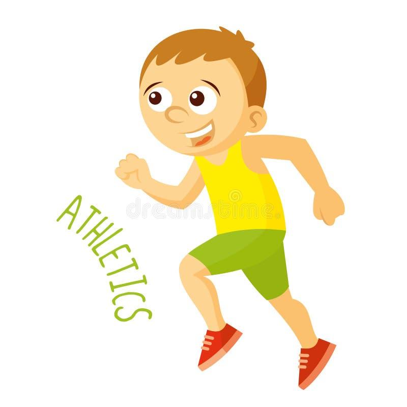 Tipos dos esportes atleta athletics funcionamento ilustração stock