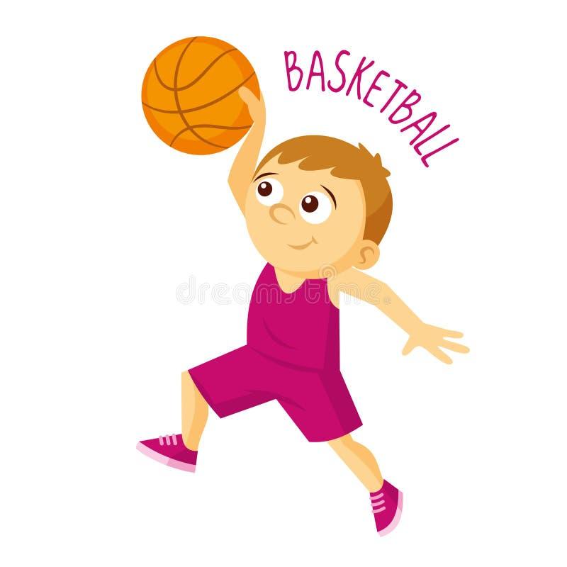 Tipos dos esportes atleta Basquetebol ilustração do vetor