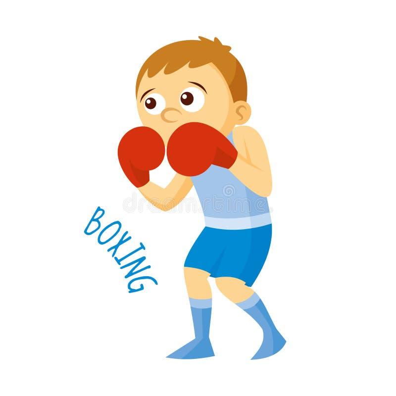 Tipos dos esportes atleta boxing ilustração do vetor