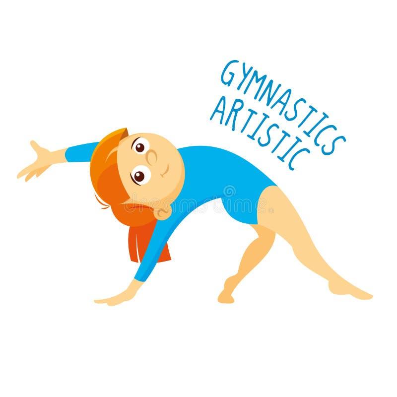 Tipos dos esportes atleta Ginástica artística ilustração do vetor