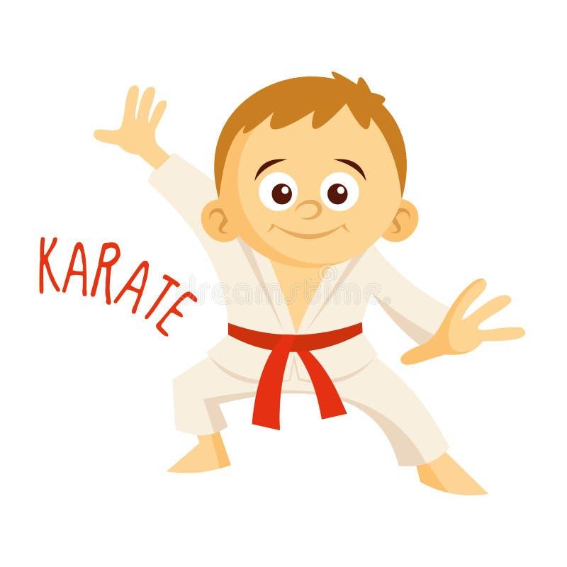 Tipos dos esportes atleta karate ilustração royalty free