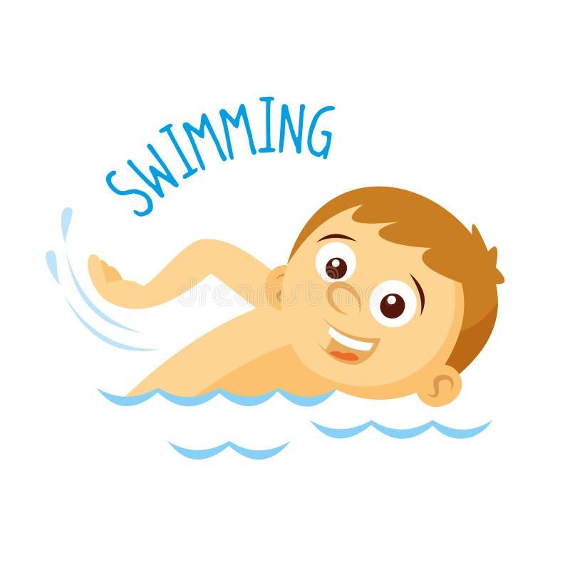 Tipos dos esportes atleta natação ilustração stock