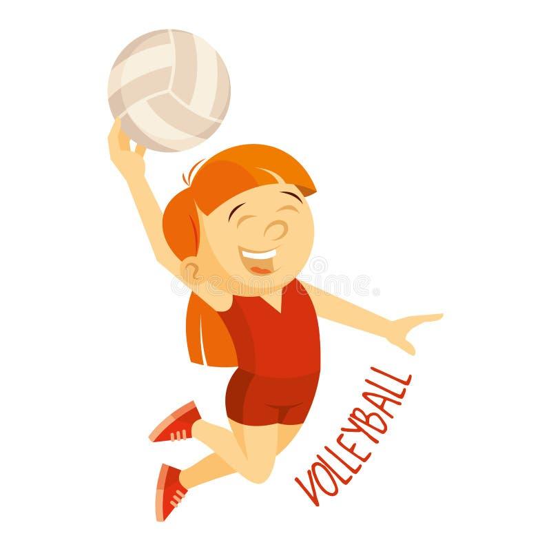 Tipos dos esportes atleta Voleibol ilustração stock