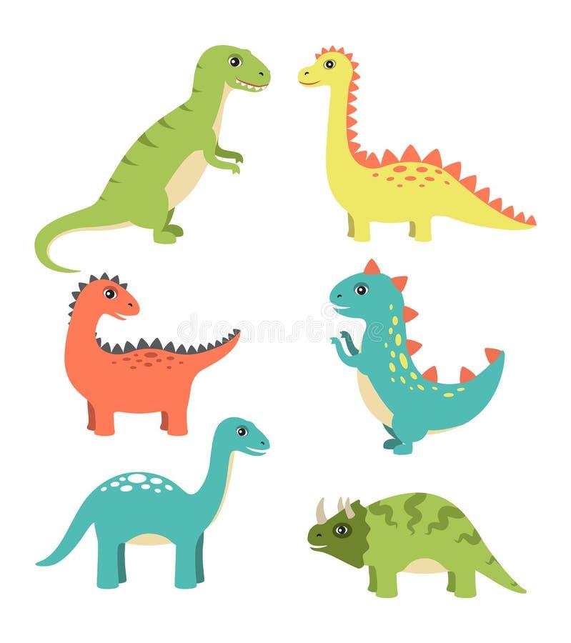 Tipos ejemplo de los dinosaurios del vector de la colección stock de ilustración