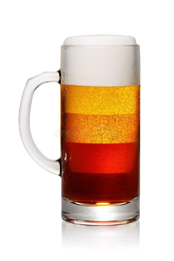 Tipos ou estilos da cerveja imagens de stock