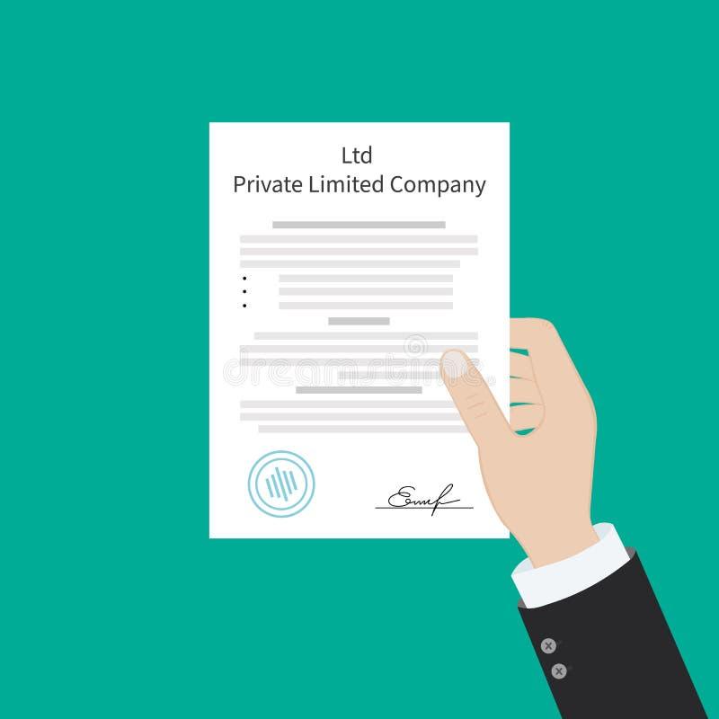 Tipos privados de la sociedad de responsabilidad limitada del Ltd de entidad de la organización de la corporación libre illustration