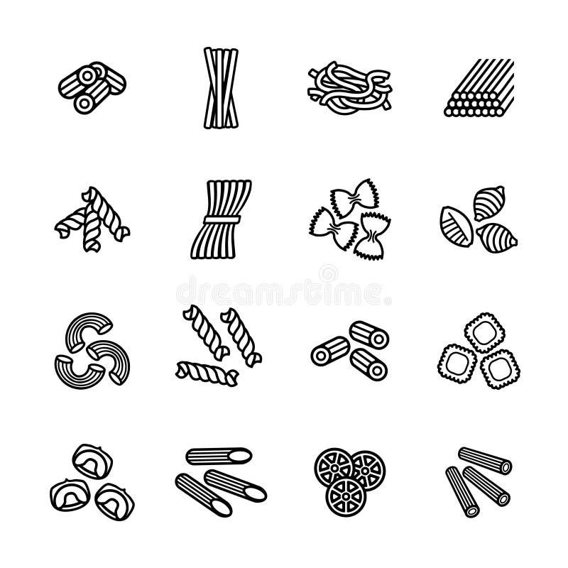 Tipos sistema de las pastas del icono Vector EPS 10 stock de ilustración