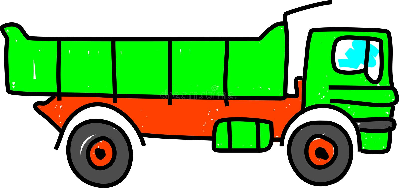 tipper ciężarówka. royalty ilustracja