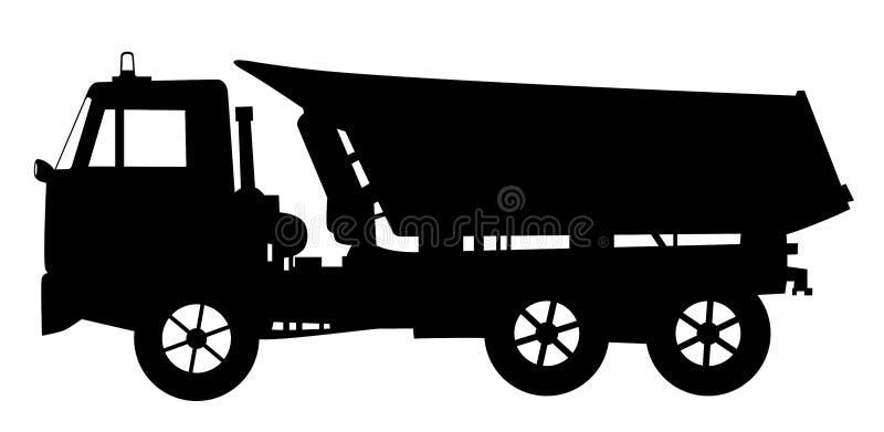 Tipper Dump Truck stock illustrationer