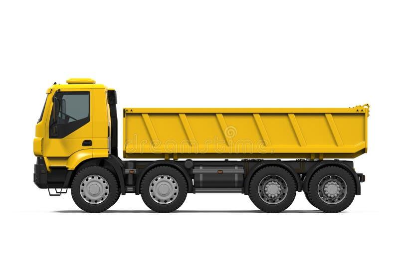 Tipper Dump Truck jaune illustration libre de droits
