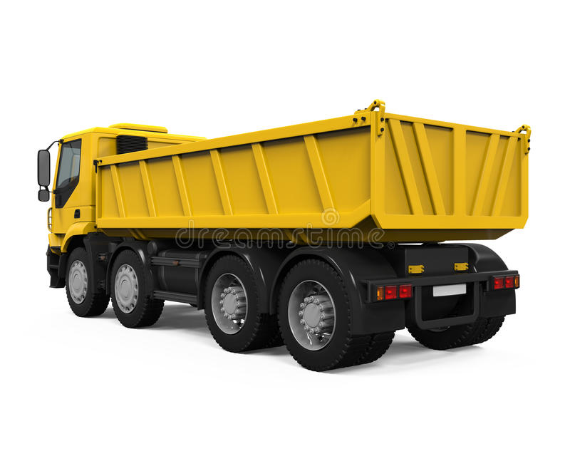 Tipper Dump Truck jaune illustration de vecteur