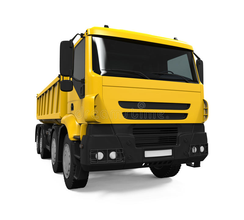 Tipper Dump Truck jaune illustration stock