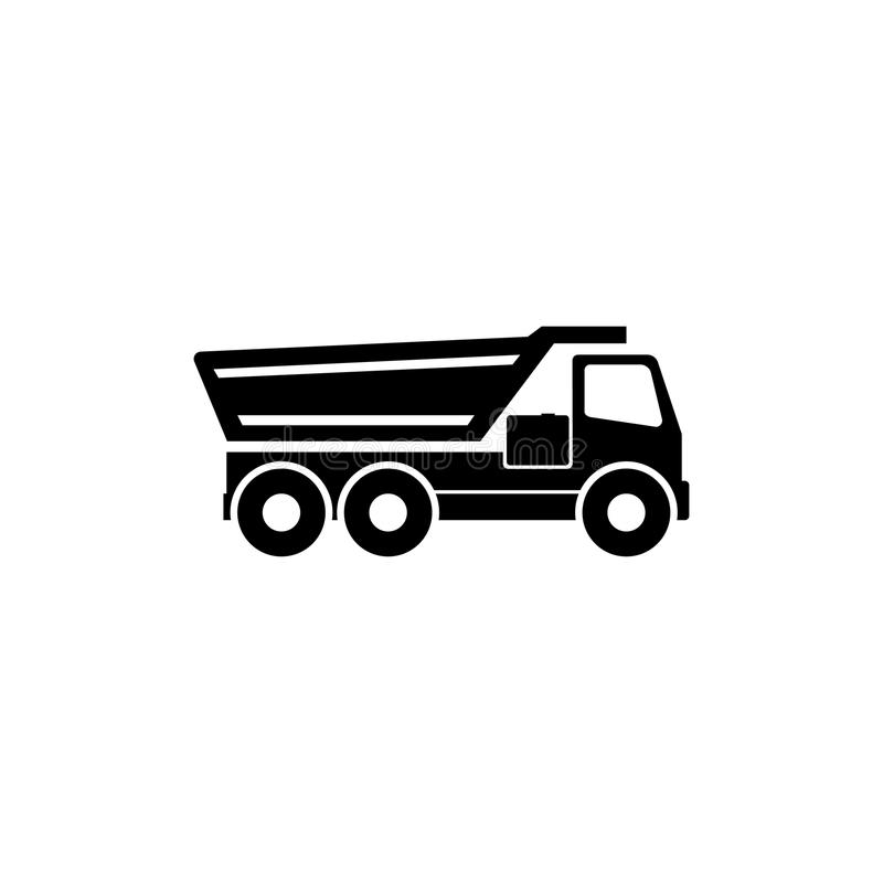 Tipper Truck Flat Vector Icon illustration libre de droits