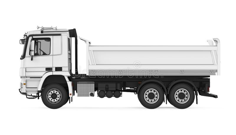 Tipper usypu ciężarówka odizolowywająca ilustracji