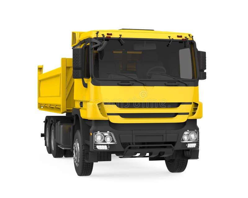 Tipper usypu ciężarówka odizolowywająca ilustracja wektor