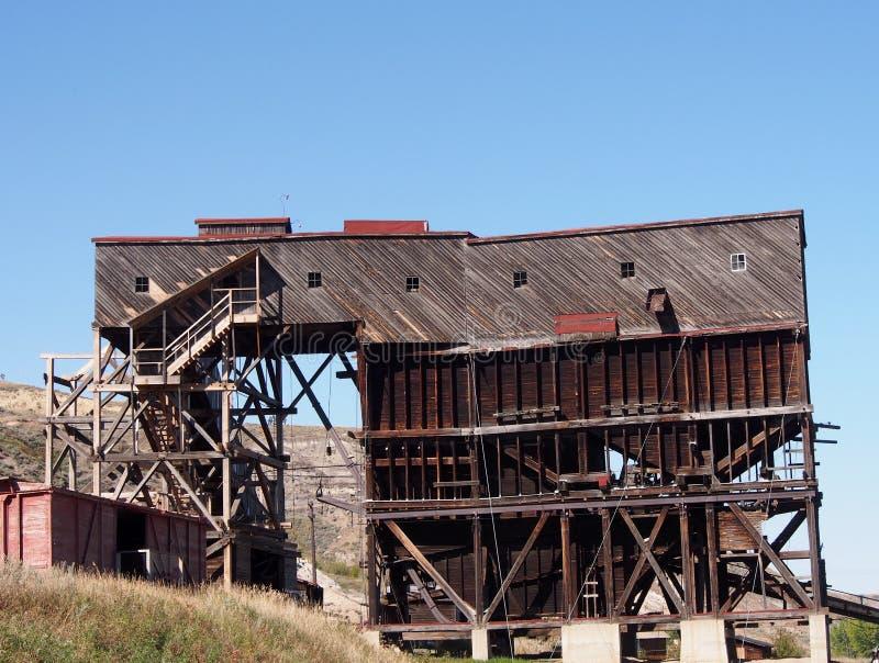Tipple alla miniera di carbone dell'atlante Drumheller fotografie stock