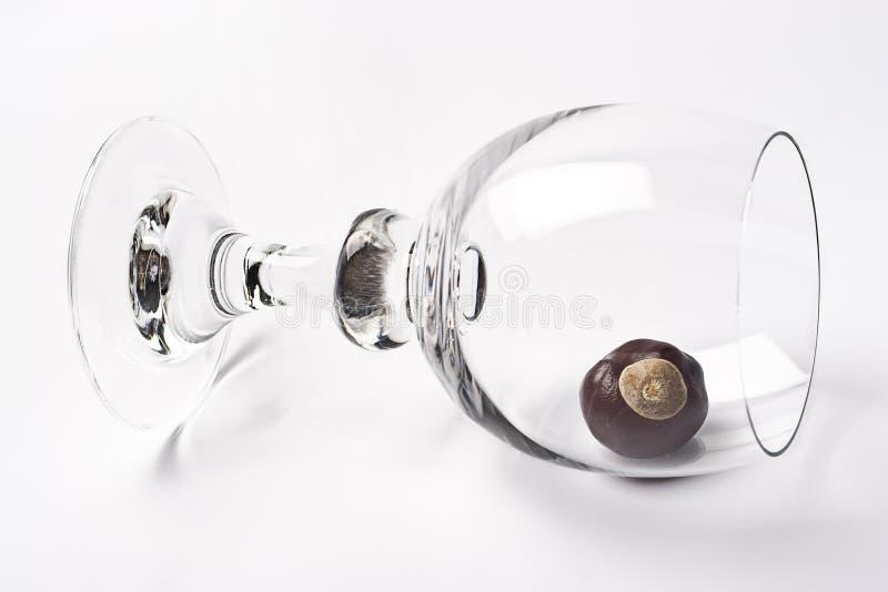 Tippy Glas lizenzfreies stockbild
