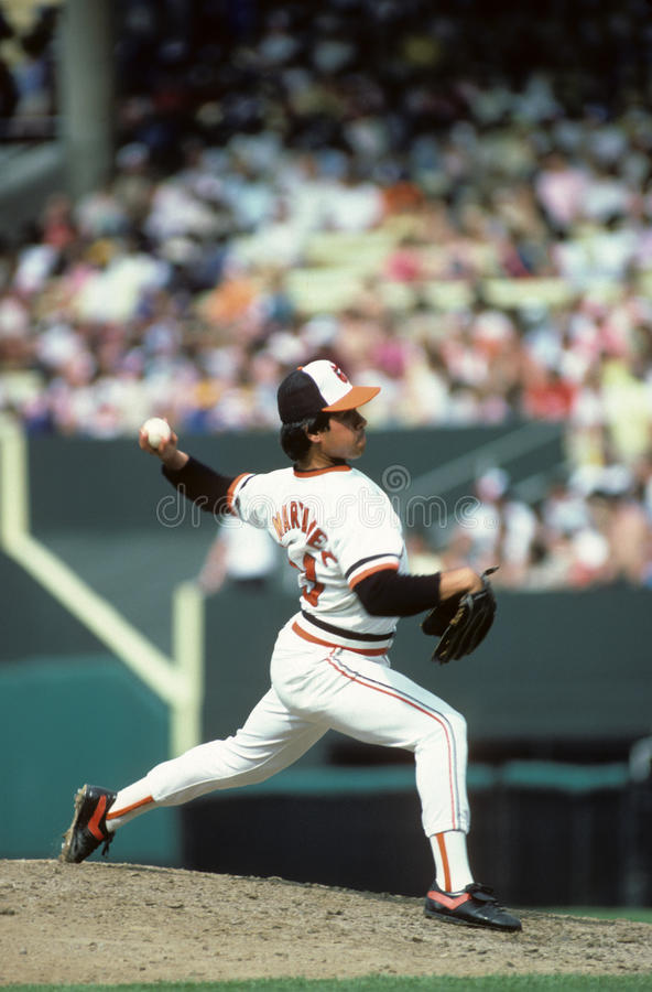 Tippy Martinez. Baltimore Orioles relief pitcher Tippy Martinez. (image taken from color slide royalty free stock image