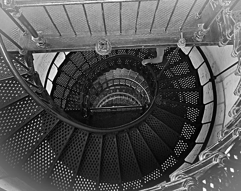 Tippy Top das escadas do farol fotos de stock