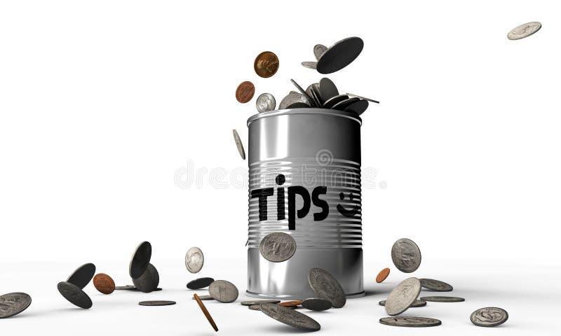 Tips Can Royalty Free Stock Photos