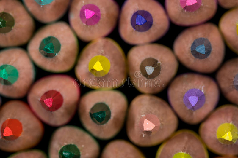 Tips of Colored Pencils royalty free stock image