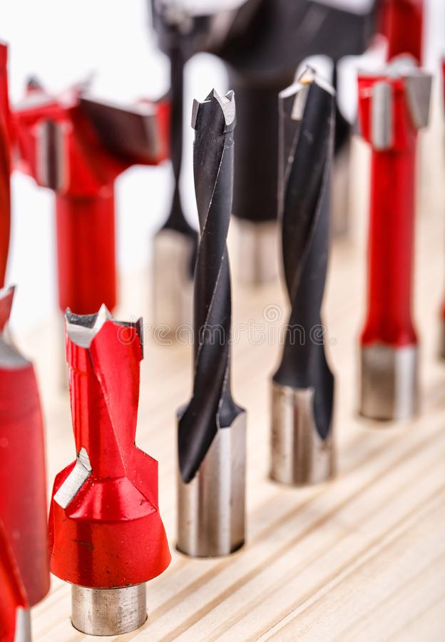 Tips for drill close. Tips for a drill close up, macro foto royalty free stock photography