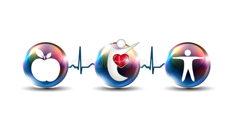 Tips how to strengthen cardiovascular system royalty free illustration