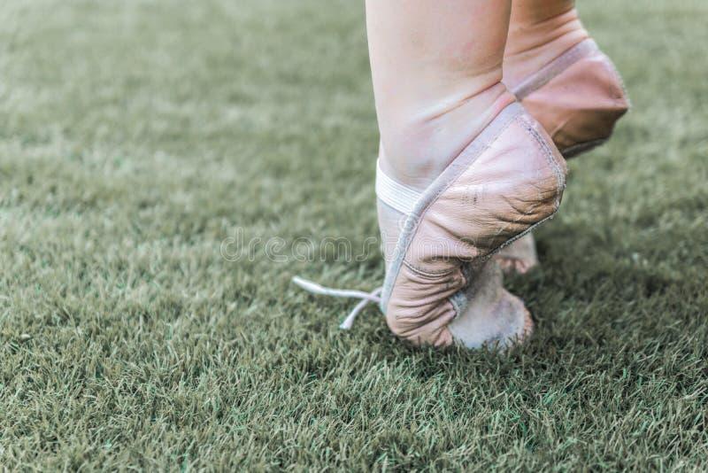 On tiptoe in ballet royalty free stock photos