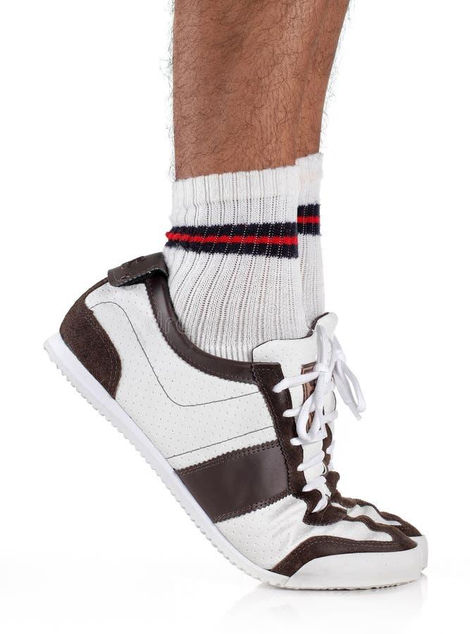 Tiptoe foot stock images