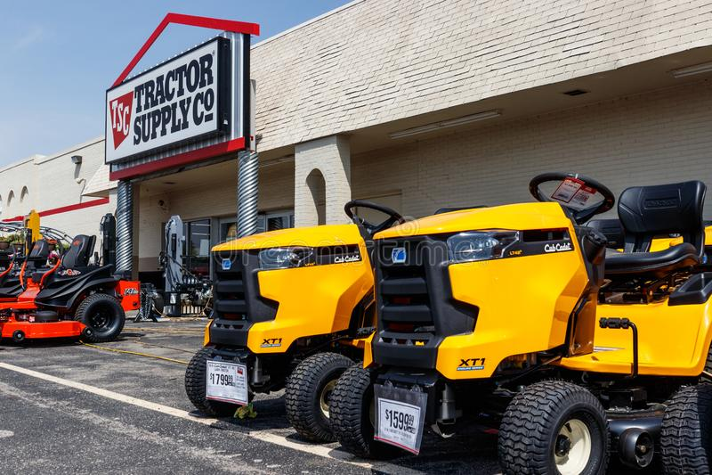 Tractor Supply Company Retail Location. Tractor Supply is Listed on the NASDAQ under TSCO III. Tipton - Circa May 2019: Tractor Supply Company Retail Location royalty free stock images