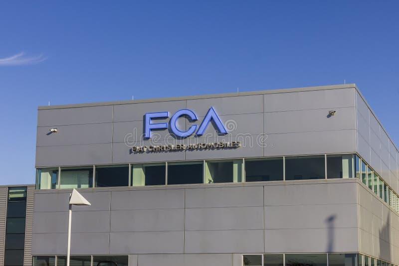 Tipton - Circa November 2016: Van de de Auto'stransmissie van FCA Fiat Chrysler Installatie III stock foto's