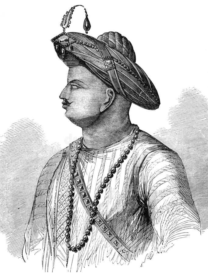 Tipu Sultan stock illustration