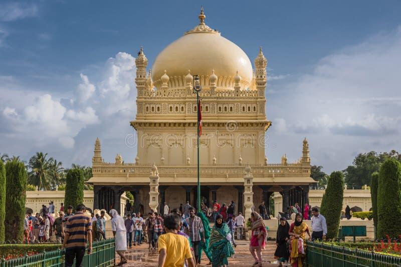 Tipu Sultan Mausoleum, Mysore, Indien arkivfoton