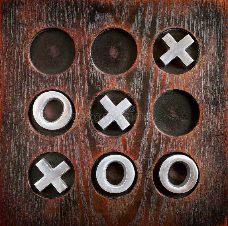Tique Tac Toe fotografia de stock
