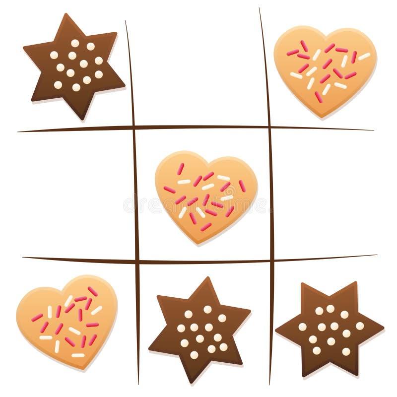 Tique Tac Toe Cookies Game do Natal ilustração royalty free