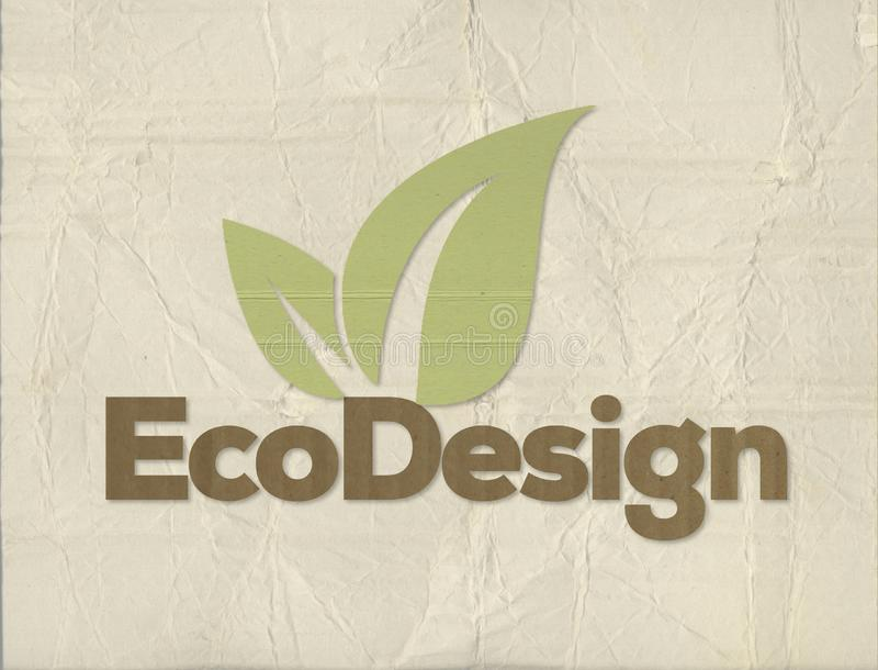 ?tiquetage de conception et d'?nergie d'Eco photos libres de droits