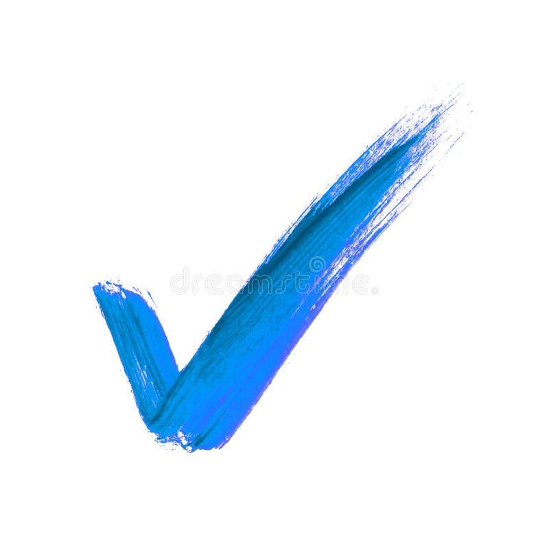 Tiquetaque azul da escova fotografia de stock