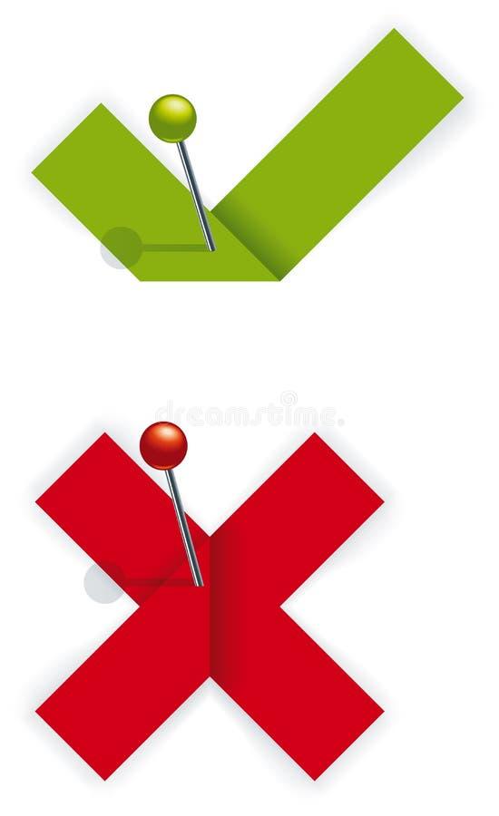 Tiquetaque e cruz de papel. ilustração royalty free