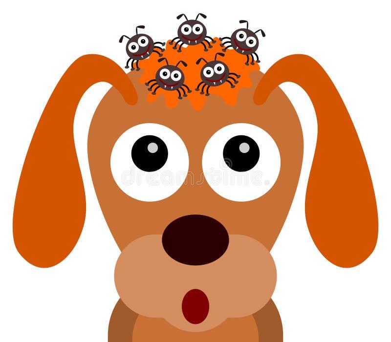 Tiquetaques de cão ilustração royalty free