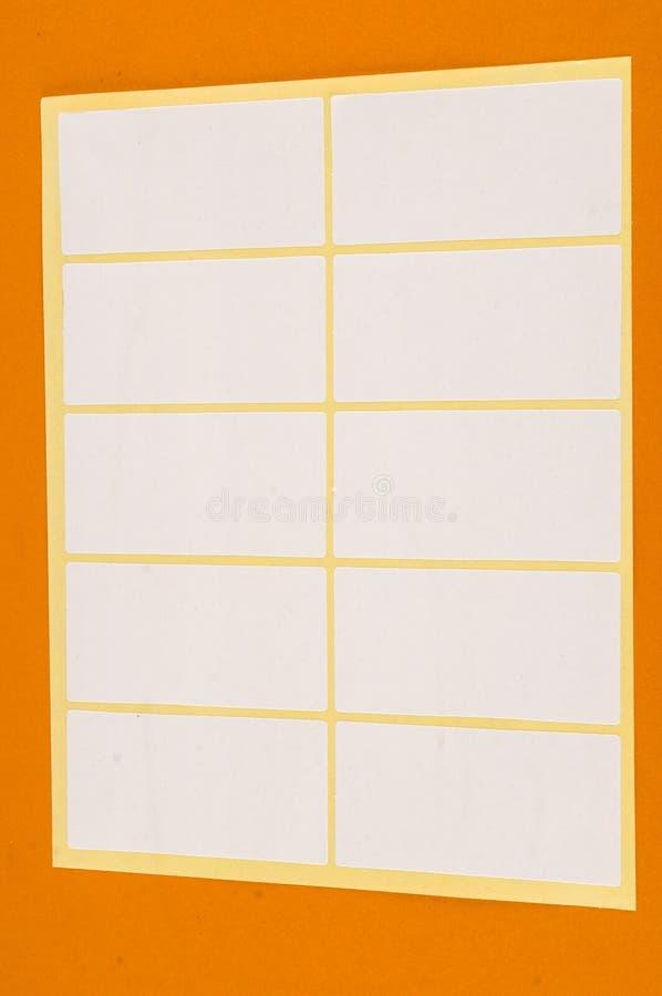?tiquette adh?sive d'?tiquette de papier blanc image libre de droits