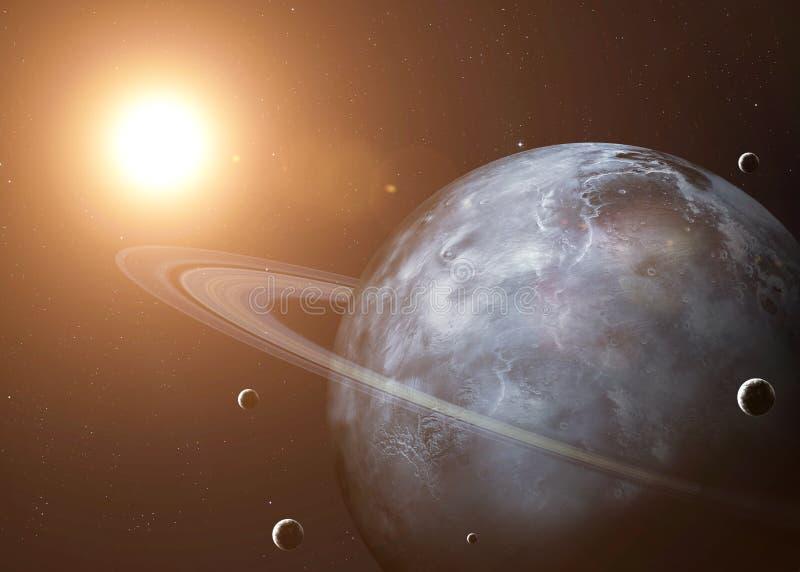Tiré d'Uranus pris de l'espace ouvert collage images stock