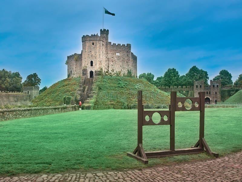 Tiré du château de Cardiff images stock