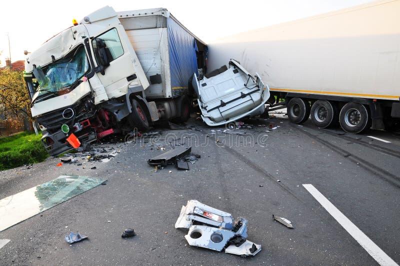 tir аварии стоковые изображения rf